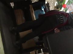 Wysokie rudowłosy PAWG Tight Black Jeans