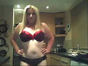 Caught by  son flashing on webcam