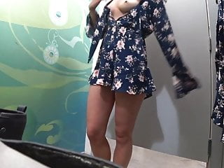 Fully exposed Teen in dressing room