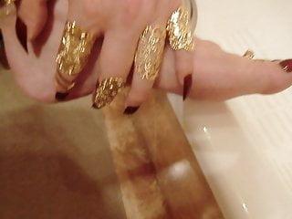 video: Long toe nails, barefeet. Masturbation