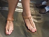 Candid Teen Feet (up Close & Faceshot)