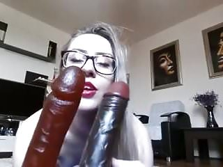 .Sexy Blonde Huge Anal Toys.