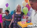 Samantha Saint celebrates her birthday with a wild crazy