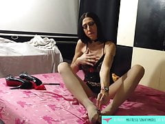 Collant e dildo footjob - Francese Amateur