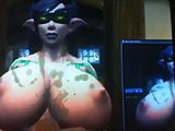 cumtribute for Jessya's Night Elf DH