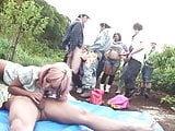 Uncensored JAV group of gyaru farm sex party Subtitles