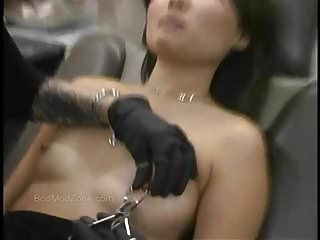 Nipples Public Nudity Asian video: Cute Asian Gets Her Nipples Pierced