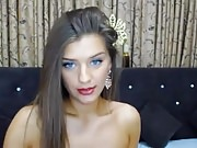 Pretty Romanian camgirl gets naked 1