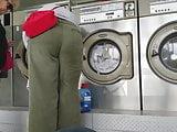Creep Shots girl next door type at laundry room nice ass
