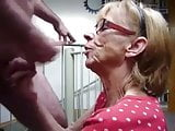 Granny Blowjob and Swallow
