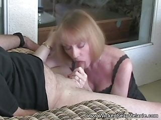 Action Satisfies Dildo Granny Blowjob His And Cock