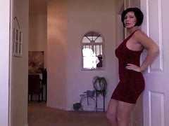 Gorgeous Woman Tries On Dresses