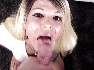 55 mr pov CUMSHOT Shemale cumswalow al becmf SHEMALE