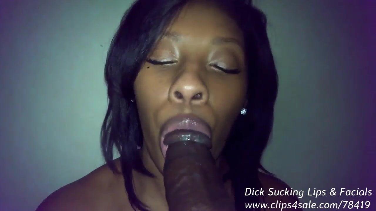 Ebony Homemade Dick Sucking