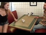 daughter mess with NOT father in restaurant
