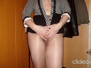 In pantyhose