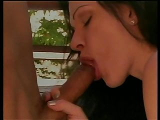Brunette porn girl pussy filled up dick on...