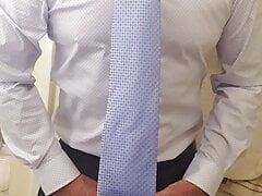 Shirt and tie muscle guy