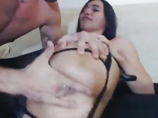 Sexy brunette wife gets rough anal pounding