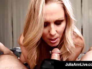 Milf of the Yr Julia Ann Dons Black Gloves To Milk A Shaft!