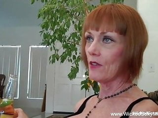 Short haired redhead blowjob...