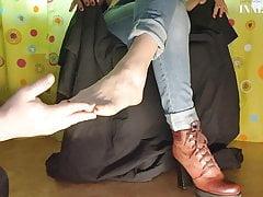 Adorable Girl Demonstrating Sexy Feet - Fetish