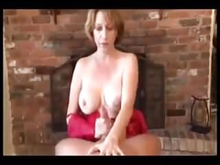 Mommy gives her boy relaxing handjob...