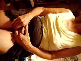 Big nipples poke through as she rubs her pussy