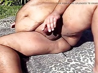Chub dad piss and cum outdoors