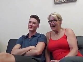 Mom and son watch porn together...