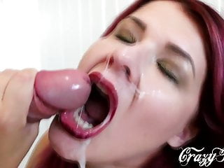 Russian Milf Choked On Cum During Blowjob With Cum On Face