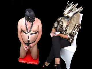 Mistress Humiliates Femdom CFNM Slave with Stop And Go Game