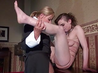 Strapon Femdom Lesbian video: Lezdom - Strapon and Wax Torture
