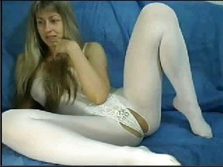 Webcam MILF in White Catsuit