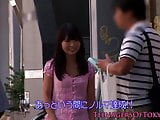 Young japanese stimulated with vibrator