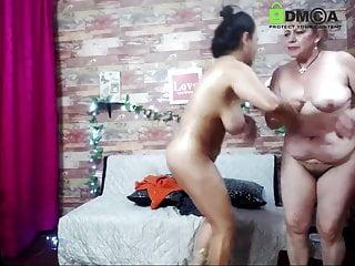 strips grandma on cam Teen her
