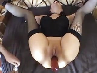 Bound amateur in sexy lingerie fucked...