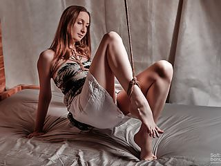 Seductive jute tied ankle and white clothes...