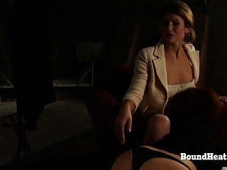 Big Ass Lesbian Slave Spanked While Licking Madame's Pussy