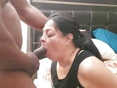 Deepthroating and sucking a BBC