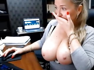 Hot secretary at web show 1