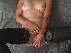 Petra masturbates with a big black cock