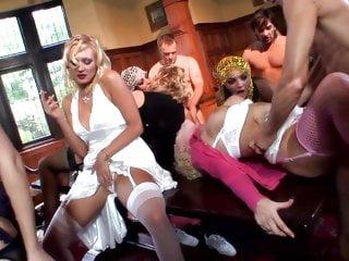 Lucky milkman orgy he knocks the wrong door...