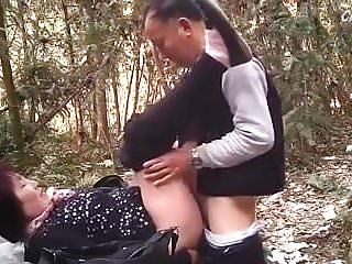 Asian Dad in the forest 5
