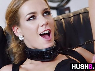 Blonde After Fucks Collarded And Party Kinky