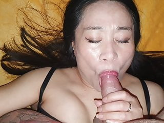Mature chinese bitch sucked and fucked bareback with...