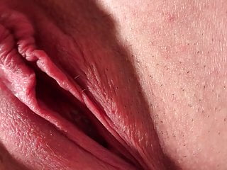 Sweet Big Pussy Lips MILF Homemade Spread Cum HJ Labia Clit