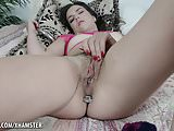 Juliette plays with her pussy and a butt plug