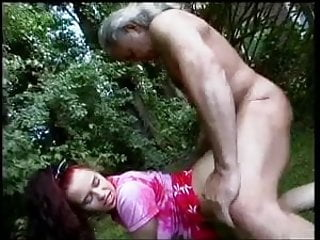 redhair bitch get fucked by a older guy