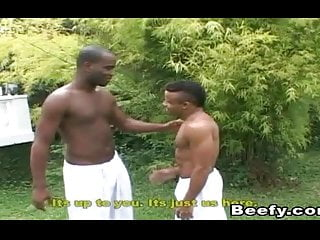 Black porn gay having hardcore fuck outdoor...